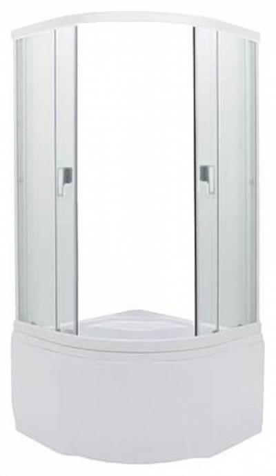 Душевой уголок Triton Вирго 1, 90 х 90 см, стекло полупрозрачное узорчатое