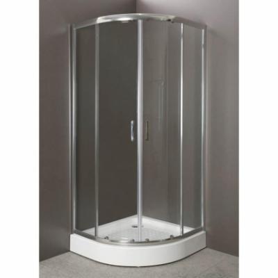 Душевой уголок BelBagno Uno UNO-R-2-80-Cr, 80 х 80 x 185 см, стекло прозрачное/матовое