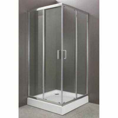Душевой уголок BelBagno Uno UNO-A-2-85-Cr, 85 х 85 x 185 см, стекло прозрачное/матовое