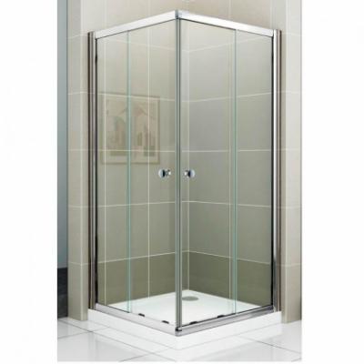 Душевой уголок Cezares PRATICO-GL-A-2-80-C-Cr, 80 х 80 х 180 см, стекло прозрачное