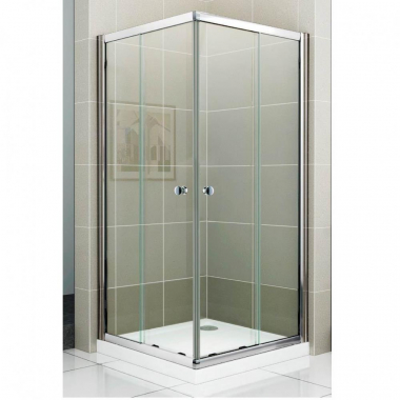 Душевой уголок Cezares PRATICO-GL-A-2-90-C-Cr, 90 х 90 х 180 см, стекло прозрачное