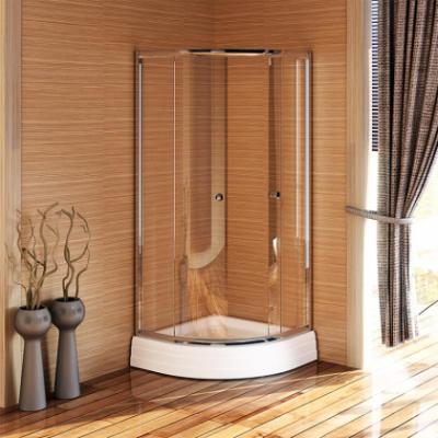 Душевой уголок Радомир 80 Люкс, 84 х 84 см четверть круга, стекло прозрачное