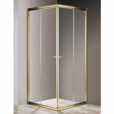 Душевой уголок Cezares GIUBILEO-A-2-100-SCORREVOLE-Br, 100 х 100 х 195 см, стекло прозрачное/матовое узорчатое