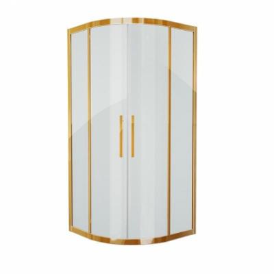 Душевой уголок Grossman Pragma PR-90G, 90 x 90 см четверть круга, стекло прозрачное, цвет профиля - золото
