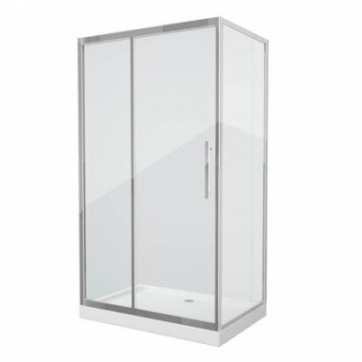 Душевой уголок Grossman Pragma PR-120SQL/R, 120 x 80 см, стекло прозрачное, цвет профиля - серебро