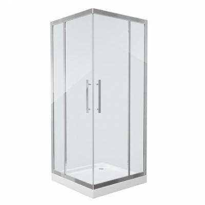 Душевой уголок Grossman Pragma PR-90SQ, 90 x 90 см, стекло прозрачное, цвет профиля - серебро