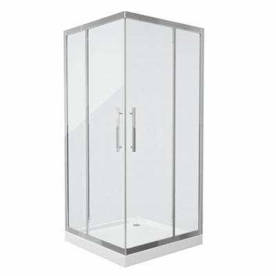 Душевой уголок Grossman Pragma PR-100SQ, 100 x 100 см, стекло прозрачное, цвет профиля - серебро