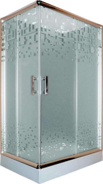 Душевой уголок Parly ZQ121, 120 х 80 х 195 см, стекло матовое узорчатое