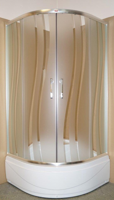 Душевой уголок Parly ZS90, 90 х 90 см, стекло матовое узорчатое