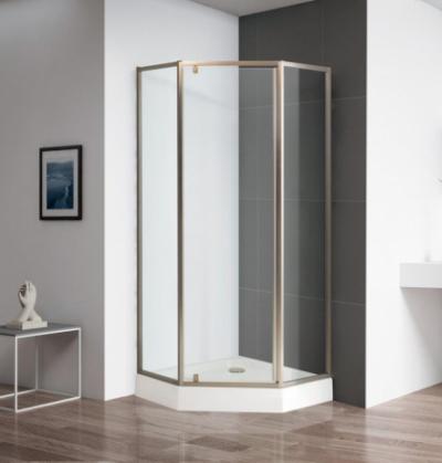 Душевой уголок Cezares ECO-O-P-1-90-C-Br, 90 х 90 х 195 см, стекло прозрачное