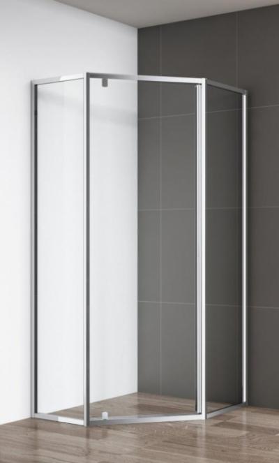 Душевой уголок Cezares ECO-O-P-1-90-C-Cr, 90 х 90 х 195 см, стекло прозрачное