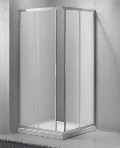Душевой уголок BelBagno SELA-A-2-85-Ch-Cr, 85 х 85 х 190 см, стекло текстурированное