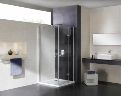 Душевой уголок Cezares CRYSTAL-S-A-1-100-C-Cr-L, 100 х 100 см, стекло прозрачное, цвет профиля хром, левосторонний