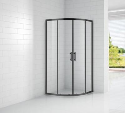 Душевой уголок Cezares ECO-O-R-2-90-C-NERO, 90 х 90 х 190 см, стекло прозрачное