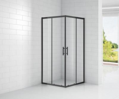 Душевой уголок Cezares ECO-O-A-2-90-C-NERO, 90 х 90 х 190 см, стекло прозрачное