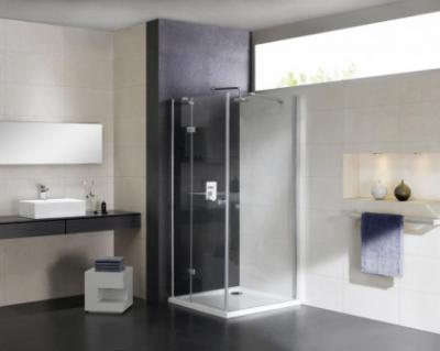 Душевой уголок Cezares CRYSTAL-S-A-1-100-C-Cr-R, 100 х 100 см, стекло прозрачное, цвет профиля хром, правосторонний
