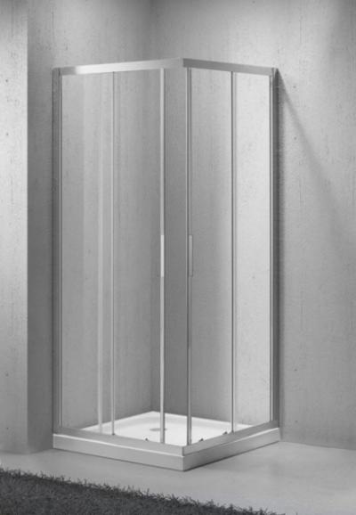 Душевой уголок BelBagno SELA-A-2-85-C-Cr, 85 х 85 х 190 см, стекло прозрачное