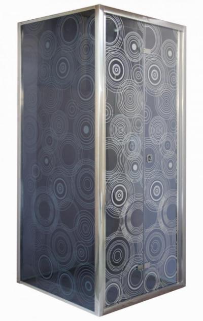 Душевое ограждение Cerutti ZQD91 90 x 90 x 195 см квадратное, стекло тонированное