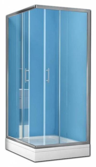 Душевой уголок Kolpa-San Q-line TKK 90x100 (TK90+TK100), 100 x 90 см, стекло прозрачное