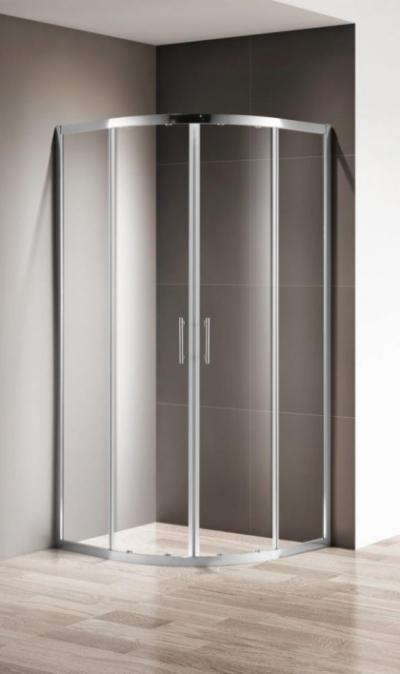Душевой уголок Cezares Momento-R-2-100-C-Cr 100 x 100 x 195 см без поддона, стекло прозрачное