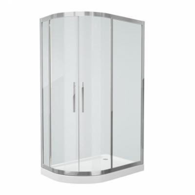 Душевой уголок Grossman Pragma PR-120SL/R, 120 x 80 см, стекло прозрачное, цвет профиля - серебро