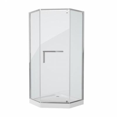 Душевой уголок Grossman Pragma PR-90SD, 90 x 90 см пятиугольный, стекло прозрачное, цвет профиля - серебро