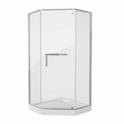 Душевой уголок Grossman Pragma PR-100SD, 100 x 100 см пятиугольный, стекло прозрачное, цвет профиля - серебро