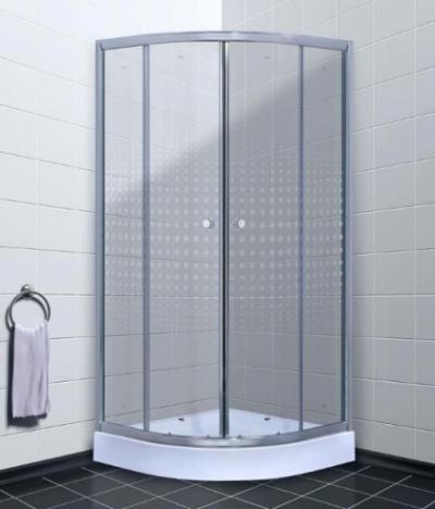 Душевой уголок Timo TL-8001 R Romb Glass, стекло прозрачное с узором, 80 х 80 х 200 см