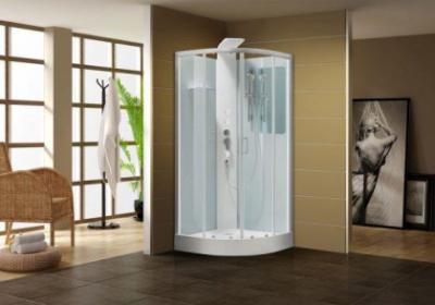 Душевая кабина Aquanet Passion R 90 x 90 см, 213316, с гидромассажем, прозрачное стекло