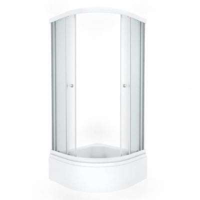 Душевой уголок Triton Ультра В 90 x 90 см, четверть круга, стекло прозрачное, средний поддон, сифон