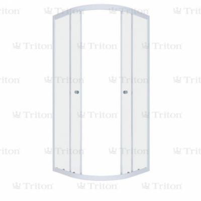 Душевой уголок (ширма) Triton Гидрус 90 x 90 см, четверть круга, стекло лен