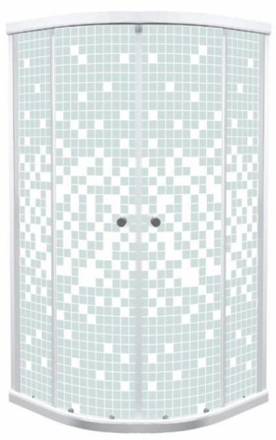Душевой уголок (ширма) Triton Стандарт Мозаика 100 x 100 см, четверть круга, стекло с узором