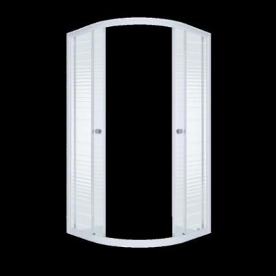 Душевой уголок (ширма) Triton Стандарт Полосы 90 x 90 см, четверть круга, стекло с узором Полосы