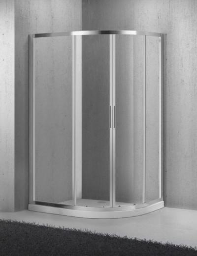 Душевой уголок BelBagno SELA-RH-2-100/80-Ch-Cr, 100 х 80 х 190 см, стекло текстурированное