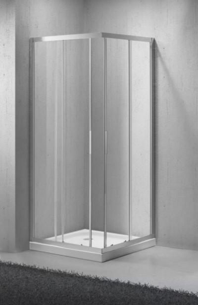 Душевой уголок BelBagno SELA-A-2-90-Ch-Cr, 90 х 90 х 190 см, стекло текстурированное