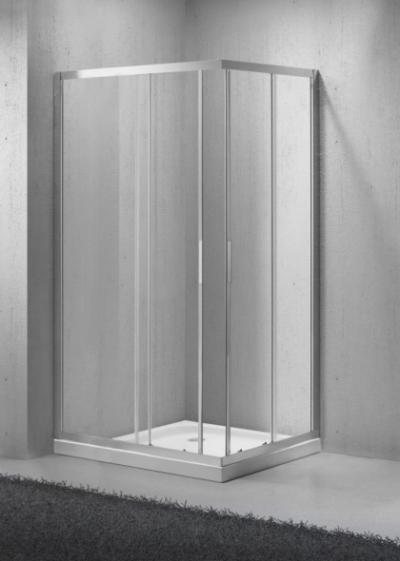 Душевой уголок BelBagno SELA-AH-2-100/80-Ch-Cr, 100 х 80 х 190 см, стекло текстурированное