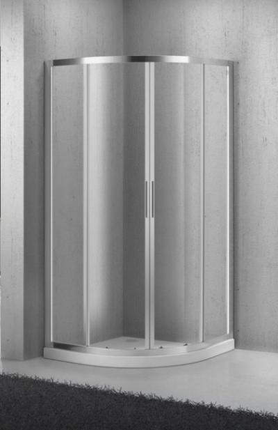 Душевой уголок BelBagno Sela SELA-R-2-80-Ch-Cr, 80 x 80 x 190 см, стекло текстурированное