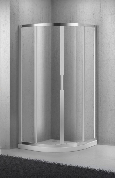 Душевой уголок BelBagno Sela SELA-R-2-85-Ch-Cr, 85 x 85 x 190 см, стекло текстурированное