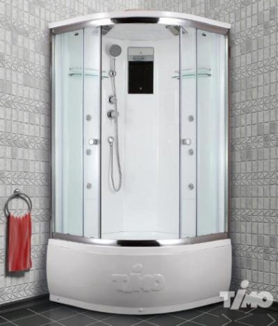 Душевая кабина Timo Lux T-7700 P, 100 x 100 см, стекла прозрачные