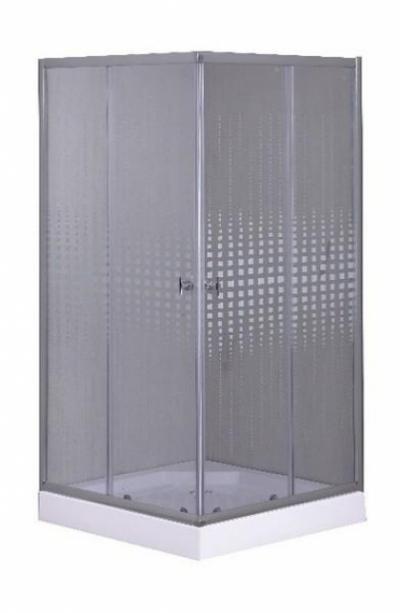 Душевой уголок Parly ZQ811, 80 х 80 см, стекло узорчатое