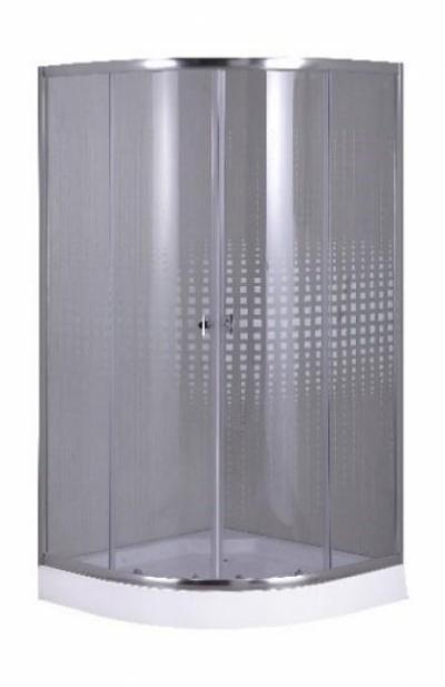 Душевой уголок Parly Z911, 90 х 90 см, стекло узорчатое