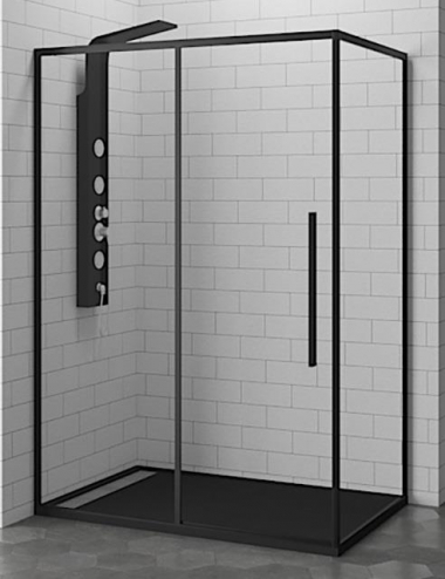 Душевой уголок RGW SV-42-B 32324270-14 100 х 70 см прямоугольный, черный