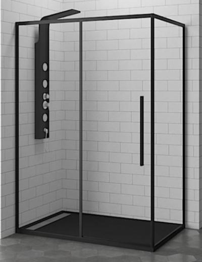 Душевой уголок RGW SV-42-B 32324281-14 110 х 80 см прямоугольный, черный