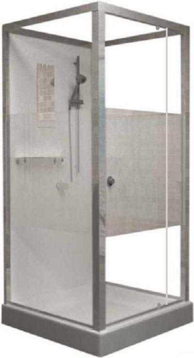 Душевая кабина RGW OLB-207, 100 x 90 см, профиль - хром