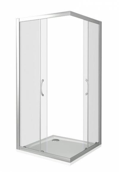 Душевое ограждение Good Door Latte CR-100-C-WE 100 х 100 х 185 см, ЛА00007, стекло прозрачное, белый