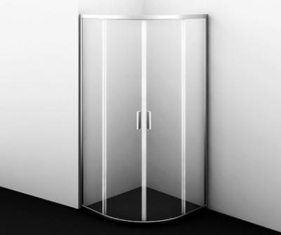 Душевой уголок WasserKRAFT Lippe 45S00, четверть круга, стекло прозрачное, 80 см