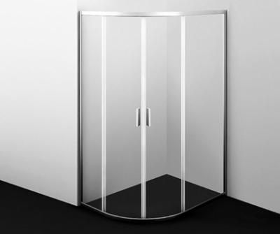 Душевой уголок WasserKRAFT Lippe 45S24, асимметричный, стекло прозрачное, 90 см