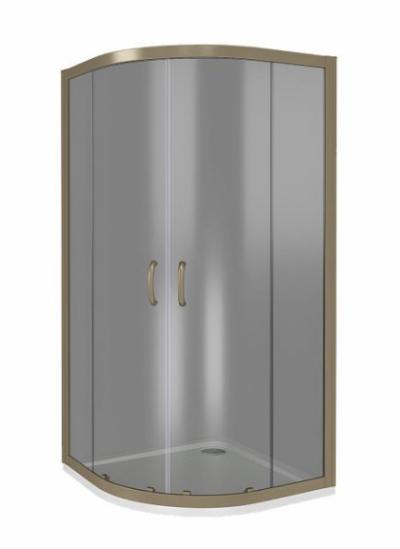 Душевое ограждение Good Door Jazze R-100-B-BR 100 х 100 х 185 см, ДЖ00037, стекло тонированное бронза, бронза