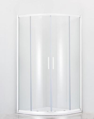 Душевой уголок Cezares Relax RELAX-R-2-80-C/P-Bi, 80 х 80 см, стекло прозрачное/рифлёное, цвет профиля белый