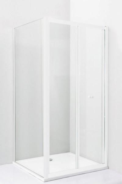 Душевой уголок Cezares Relax RELAX-AHS-1-70/80-C-Bi, 70 х 80 см, стекло прозрачное, цвет профиля белый